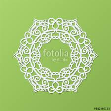 stencil template of mandala laser paper cut in arabic pattern for