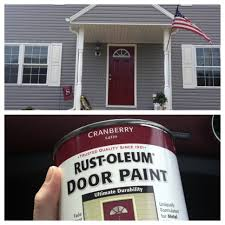 Front Door Colors For Gray House Always Wanted A Red Front Door Paint Is From Lowes Rust Oleum