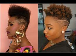 faded hairstyles for women fade haircut for black women youtube