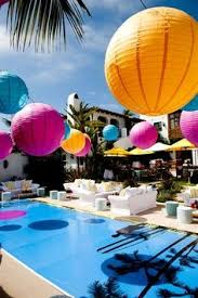 Summer Party Decorations Swimming Pool Summer Party Summer Party Ideas Party Summer