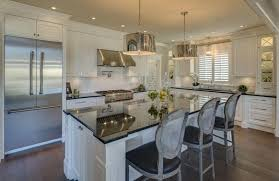 10 Beautiful Kitchens With Glass Cabinets 32 Kitchen Islands With Seating Chairs And Stools