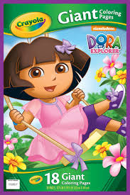 giant coloring pages dora explorer crayola