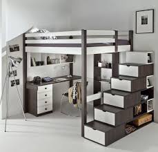 description véritable chambre mezzanine ado complète très chic