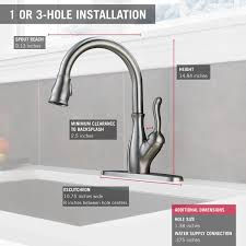 delta leland kitchen faucet reviews delta faucet 9178 ar dst leland single handle pull kitchen