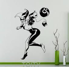 online get cheap dc vinyl sticker aliexpress com alibaba group harley quinn decal wall art dc marvel comics superhero poster vinyl stickers dorm club home interior