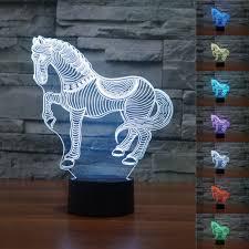 Light Table Desk 50 Off 3d Animal Nightlights Horse Zebra Night Light 7 Color