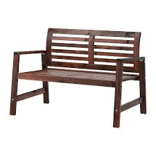Bench Products Price List äpplarö Bench With Backrest Outdoor Brown Stained Ikea