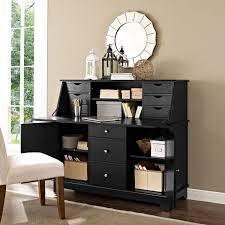 Secretary Desk Black by Crosley Kf65001bk Sullivan Secretary Desk In Black Finish