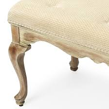 french shabby chic cerused upholstered bench woodwaves