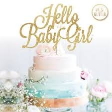 baby shower cake toppers girl hello baby girl cake topper its a girl baby shower cake glitter name
