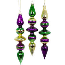 mardi gras ornaments mardi gras glass finial ornaments set of 3 xy460937