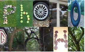 the word photography spelt out using signs objects andrew emberson