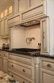 Painting Kitchen Cabinets Antique White Paint Is Benjamin White Dove With A Chocolate Glaze Live