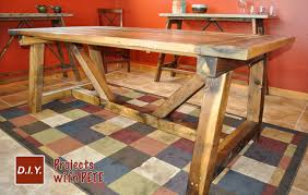 Build A Picnic Table Cost by How To Build A Rustic And Bold Farm Table