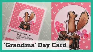 mother u0027s day card for grandma diy using lawn fawn and hero