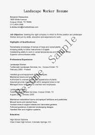 Maintenance Position Resume Sample Resume For Lawn Care Worker Free Resume Example And
