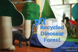 recycled kids craft dinosaur forest and sew we craft