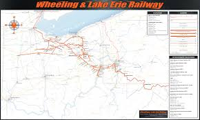 Erie County Map Map Of System Map Wheeling U0026 Lake Erie Railway