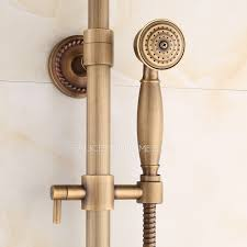 Brass Shower Faucets Brass Vintage Cross Handle Exposed Shower Faucets