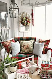 43 best christmas porches images on pinterest christmas time candles in cupcake tin common ground christmas home tour 2013