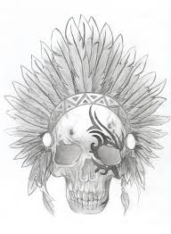 tribal indian skull by bethani1222 on deviantart