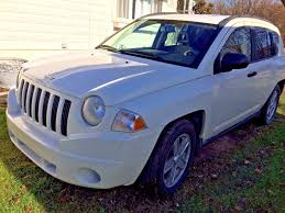 small jeep white 2007 jeep compass 2 4l 4 cylinder white small suv used