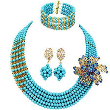 wedding necklace bridal images Aczuv african wedding jewelry set nigerian beads jpg