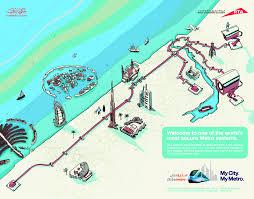 Dubai Metro Map by Dubai Metro Launch Campaign Andy Johns