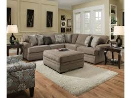 Simmons Sectional Sofas Simmons Upholstery 8530 Br Sectional Sofa With Rolled Arms Royal