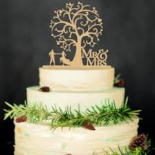 cake toppers wedding mr mrs wedding cake toppers wedding tree wood cake decorations