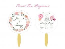 Fan Program Floral Program Fans Weddingbee Photo Gallery