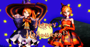 happy halloween artwork happy halloween trick and treat anon and kanon by anitaabc on