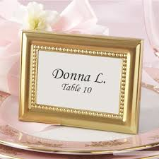 picture frame wedding favors beaded golden metal photo frame place card holder wedding party