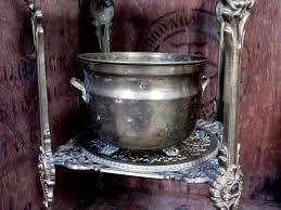 manchette cache pot en laiton grande jardinière cache pot en laiton sur pied