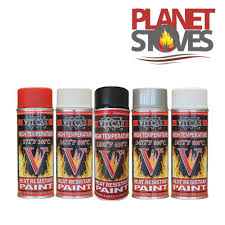 high temperature spray paint for wood burning stoves black