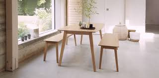 White And Oak Dining Table Pma Furniture Design Emeritus White Oak Dining Table And Bench
