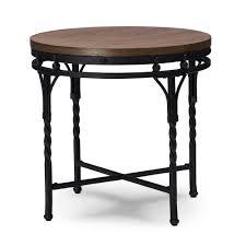 baxton studio austin vintage industrial antique bronze round