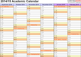 academic calendars 2014 2015 as free printable word templates