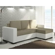 canap d angle convertible blanc canapé d angle moderne et tendance blanc et beige pas cher