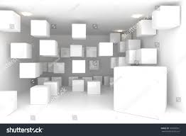 abstract interior rendering empty room color stock illustration