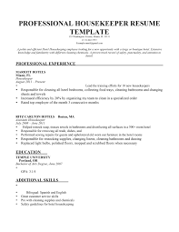 Extensive Resume Sample by Housekeeping Resume Samples Haadyaooverbayresort Com