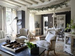 country chic living room shabby chic living room decor with half black wall paint and brick