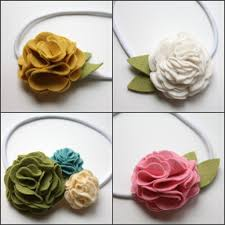 felt headbands felt flowers easy layered flower tutorial