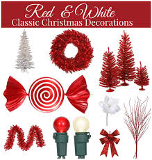 red and white christmas decorations jpg idolza