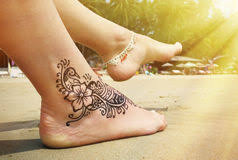 henna tattoo foot stock photos royalty free stock images