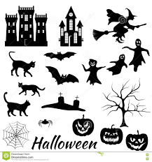 Halloween Silhouettes by Halloween Silhouettes Set Stock Vector Image 76006577