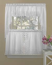 Antique Satin Valances by Kitchen Tier Curtains Nouveau Embroidered Kitchen Curtains By