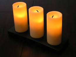 led center led candles from hton bay