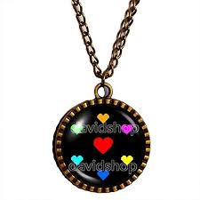 necklace pendant charm images Undertale necklace pendant charm cosplay undyne heart courage jpg