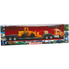 kenworth tractor trailer 1 32 scale die cast kenworth w900 lowboy tractor trailer with
